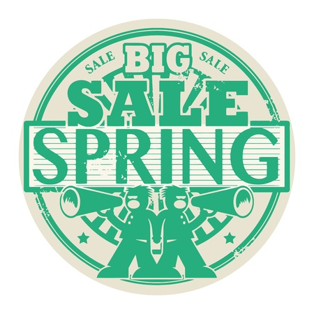 Abstract grunge rubber stamp with the words Big Spring Sale written inside the stamp Stock Vector - 21447448