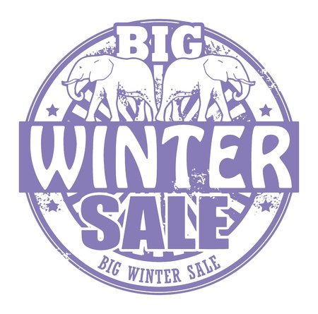 Abstract grunge rubber stamp with the words Big Winter Sale written inside the stamp Vector