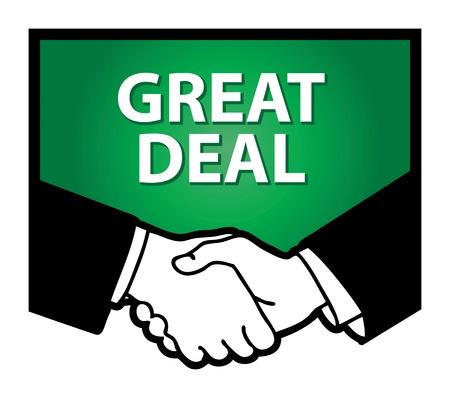 pacto: Apretón de manos y el texto mejor precio