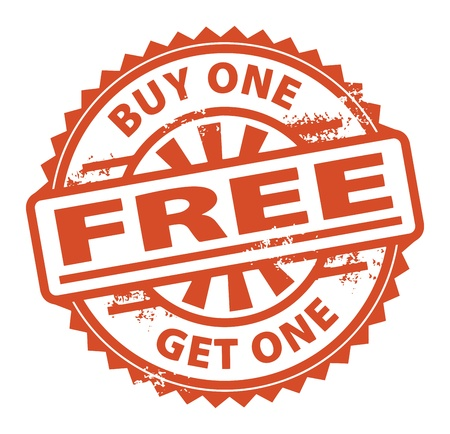 Résumé timbre en caoutchouc grunge avec le texte Acheter One Get One Free écrit à l'intérieur du timbre Vecteurs
