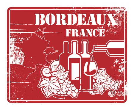 Grunge rubber stamp with words Bordeaux, France Stock Vector - 21447476