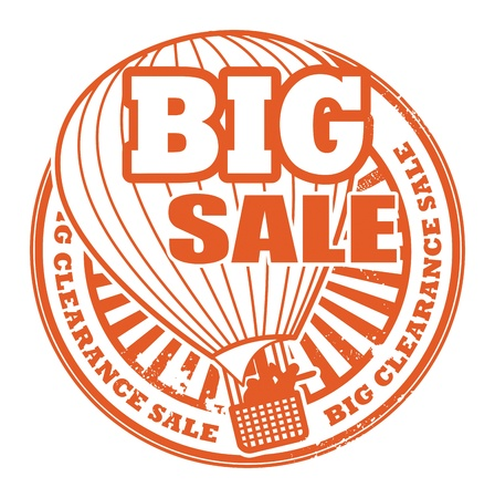 hot announcement: Abstract grunge rubber stamp with the words Big Sale written inside the stamp