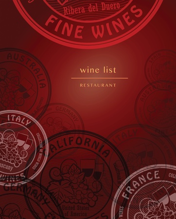 Wine list design Stock Vector - 21447508