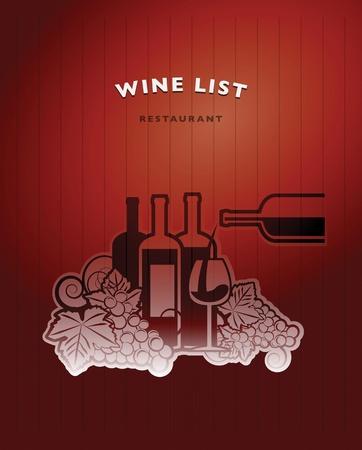Wine list design Stock Vector - 21447517