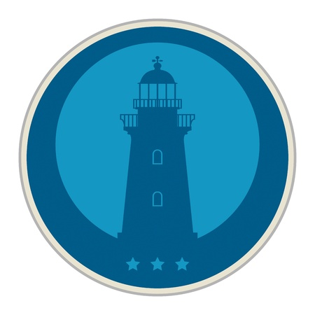 product signal: Label or sticker with lighthouse