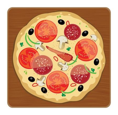 main course: Pizza