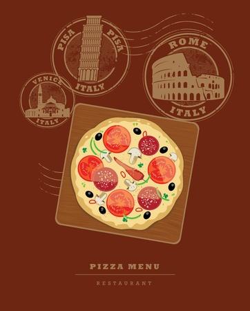 Pizza Menu design Vector