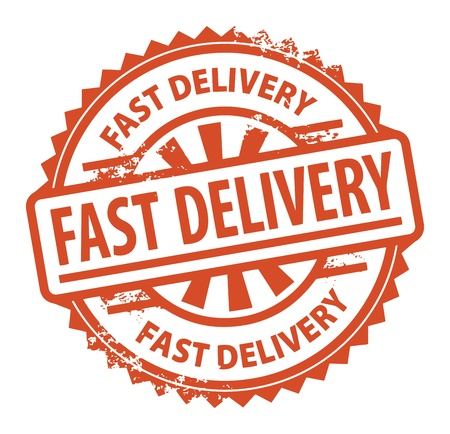 fast delivery: Abstract grunge rubber stamp with the text Fast Delivery written inside the stamp Illustration