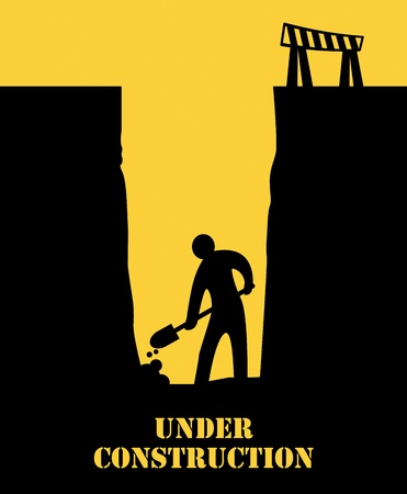 digging: Abstract under construction background Illustration