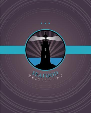 product signal: Seafood menu design Illustration