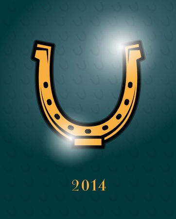 Greeting card design - horseshoe Vector
