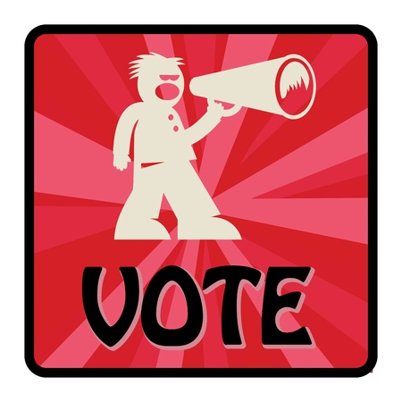 Vote sign Vector