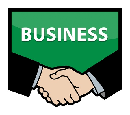 Business handshake with text Business Vector