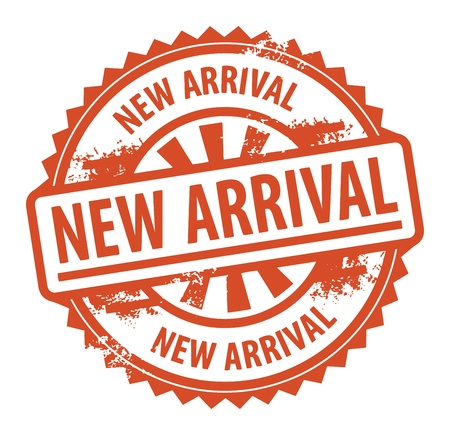 new arrival: Abstract grunge rubber stamp with the text New Arrival written inside the stamp