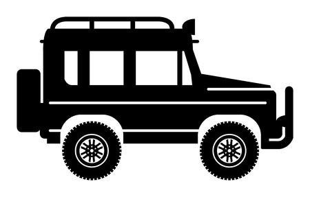 Off-Road-Fahrzeug Vektorgrafik