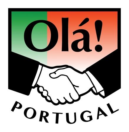 syndicate: Portugal flag and business handshake Illustration