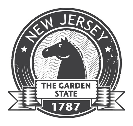 new jersey: Grunge stamp or label with name of New Jersey Illustration