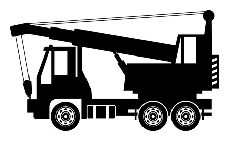 camion grua: Gr?a cami?n Vectores
