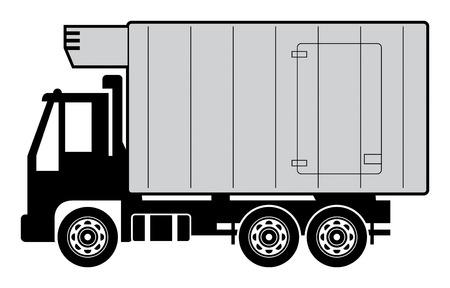 Refrigerator truck Vector
