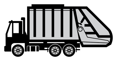 recolector de basura: Camion de basura Vectores