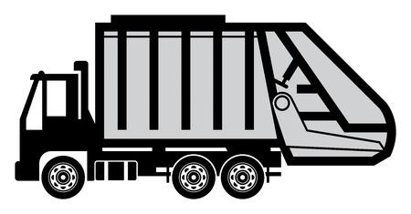 Garbage truck Stock Vector - 22297112