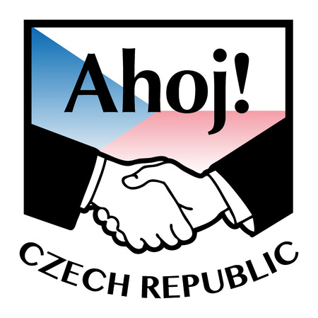 syndicate: Czech Republic flag and business handshake Illustration