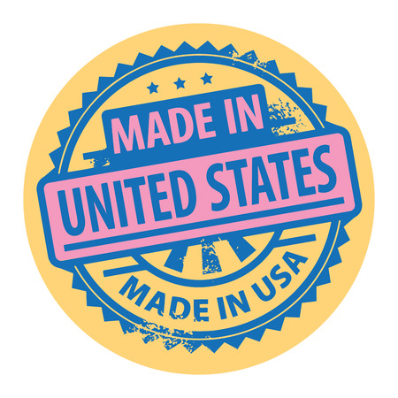 Abstract grunge rubber stamp with the text Made in United States written inside the stamp Vector