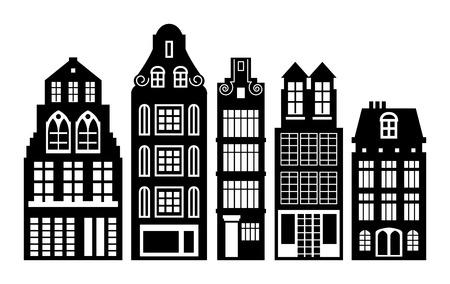 Oud-Hollandse huizen set