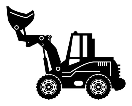 heavy duty: Wheel Loader Illustration