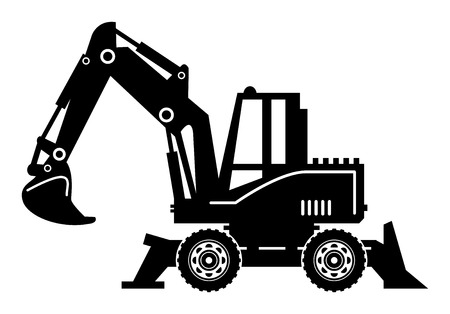 mining truck: Excavator Illustration