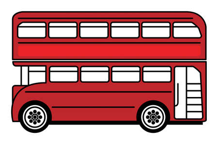 double decker bus: Red bus Illustration
