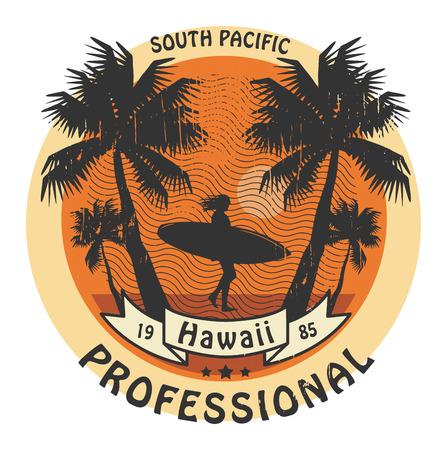 Abstract Hawaii surfer sign Stock Vector - 22470744