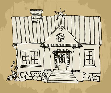 traditional house: Cartoon houses