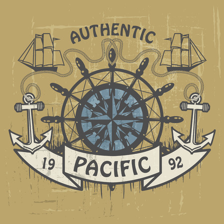 Grunge rubber stamp or label with the words Authentic Pacific written inside the stamp Vector