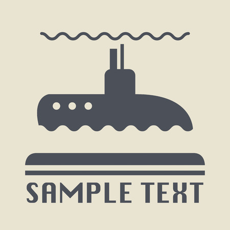 boat motor: Submarine icon or sign