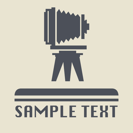 photography icon: Vintage photography icon or sign