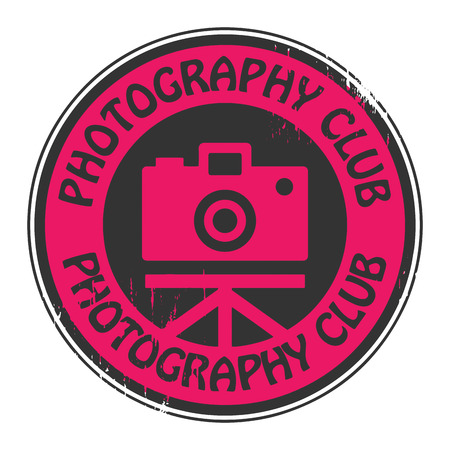 Stamp with the text Photography Club written inside the stamp Vector