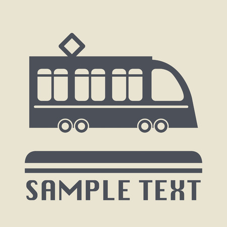 tramway: Tramway icon or sign Illustration