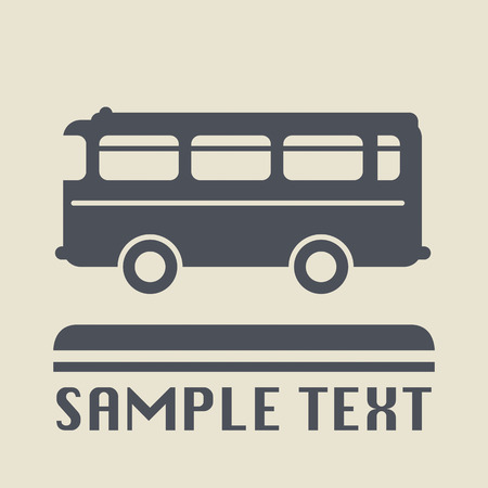 Bus icon or sign Stock Vector - 22680972