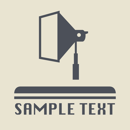 Studio flash icon or sign Vector