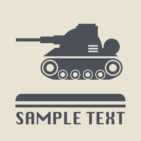 Panzer icon or sign Vector