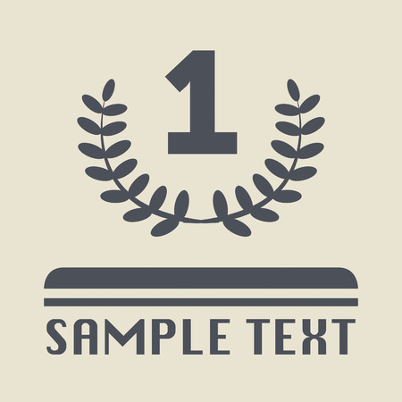 First place icon or sign Vector