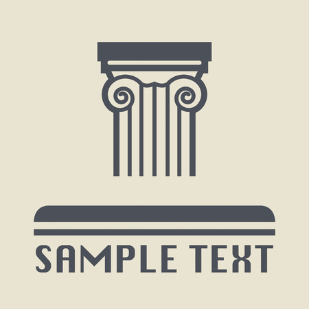 architectural elements: Antique architecture icon or sign Illustration