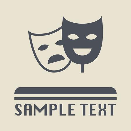mascara de teatro: Icono de m�scara de teatro o signo
