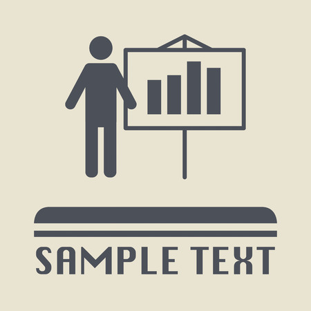 Business people, different situations icon or sign Vector
