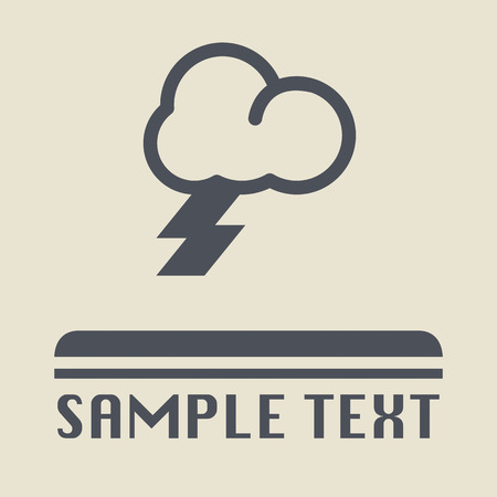 Rainy Cloud icon or sign Vector