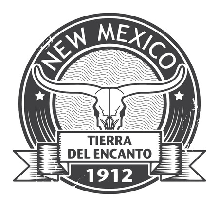 Grunge rubber stamp with name of New Mexico Vector