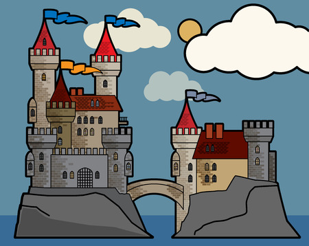 popular tale: Castle fairy tale