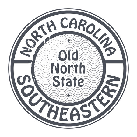 charlotte: Grunge rubber stamp with name of North Carolina, Southeastern Illustration