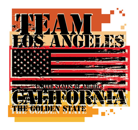 los angeles: Grunge Stempel mit dem Namen of California, Los Angeles